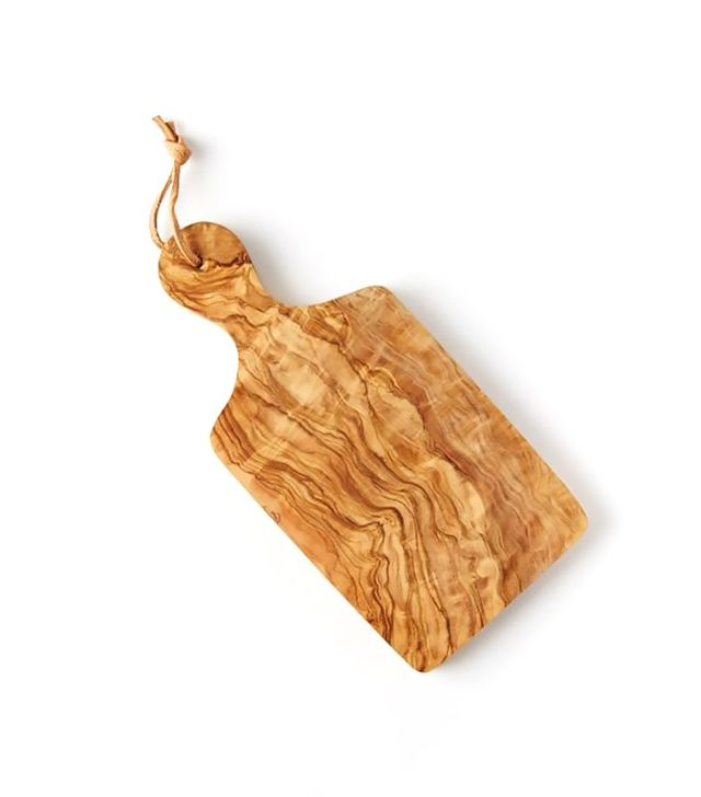 West Elm Olive Wood Paddle Cutting Board
