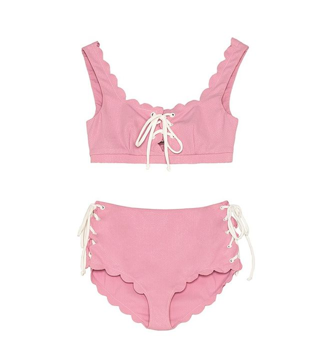 Marysia Swim Fwrd Exclusive Palm Springs Lace Up Bikini Top