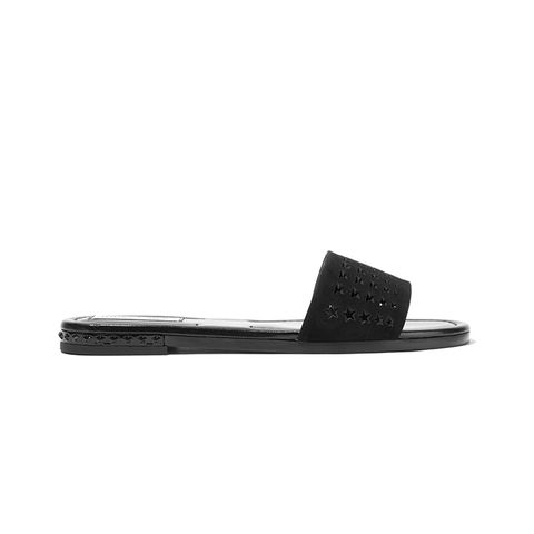 Dree Perforated Suede Slides