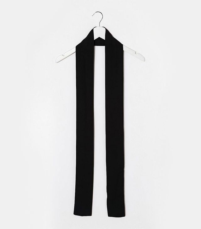 ASOS '70s Long Skinny Scarf in Black