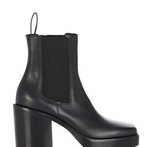 Leather Platform Chelsea Boots