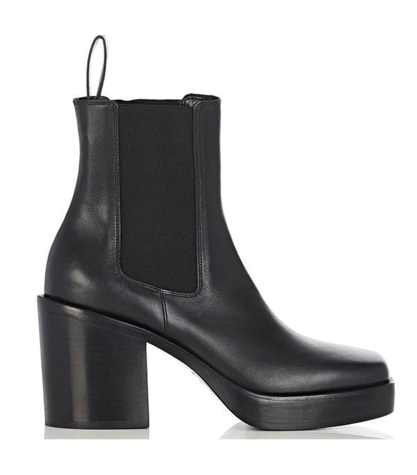 Women's Leather Platform Chelsea Boots