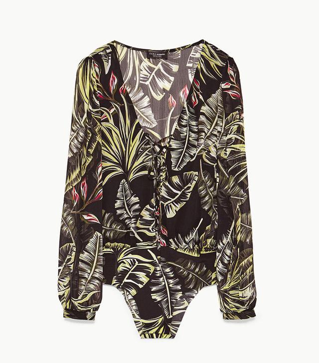 Zara Tropical Print Bodysuit