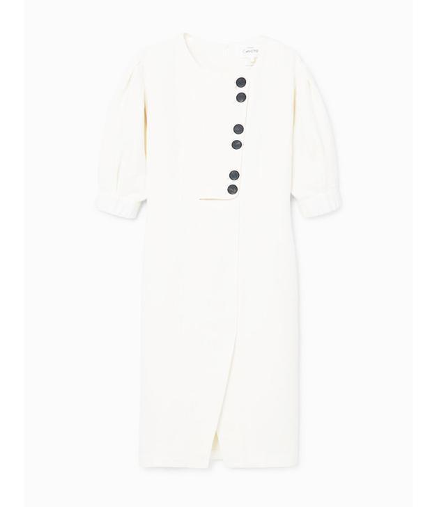 Mango Linen-Blend Midi Dress