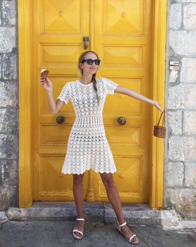 Holiday Dressing: Harley Viera Newton in Greece