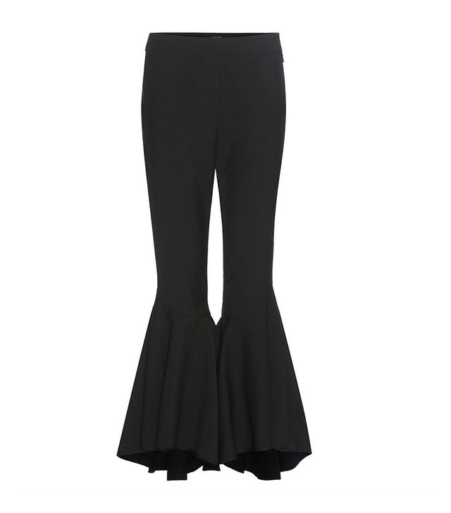 Ellery Sinuous Virgin Wool-Blend Cropped Flared Trousers