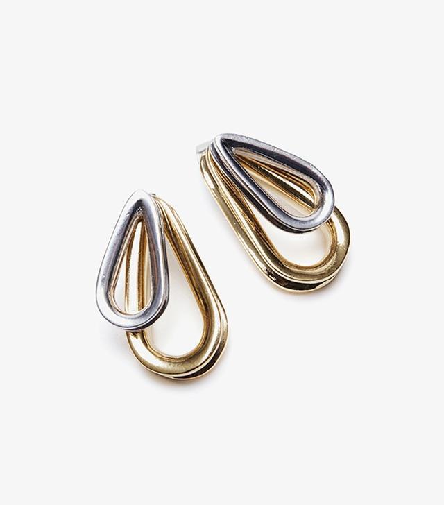 Annelise Michelson Ellipse XS Double Earrings Gold/Silver