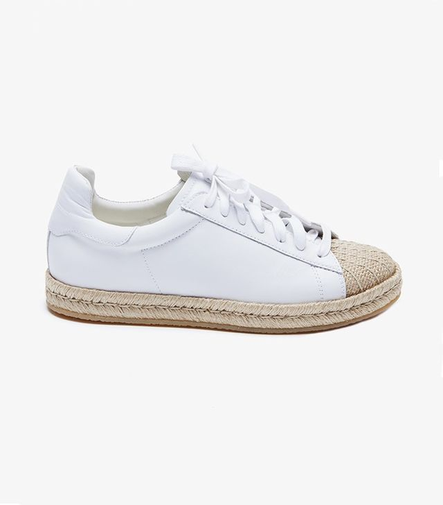 Alexander Wang Rian Optic Leather Espadrille Sneakers