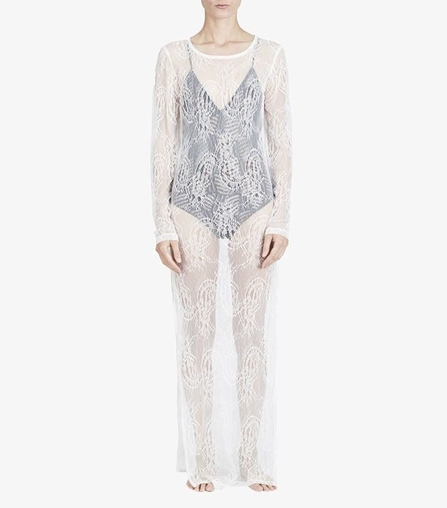 Noe Undergarments Simon Lace Long Sleeve Maxi Dress