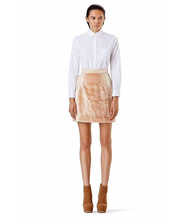 ÖHLIN/D Lamb High Waisted Mini Skirt