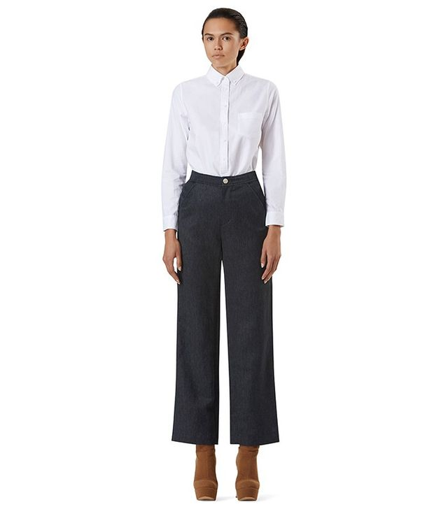 ÖHLIN/D Hempcell Twill Straight Leg Natural Waist Trouser