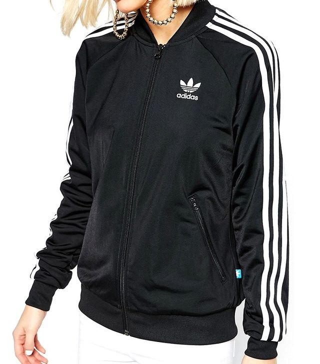 Adidas Originals Adicolour 3 Stripe Zip Front Supergirl Bomber Track Top