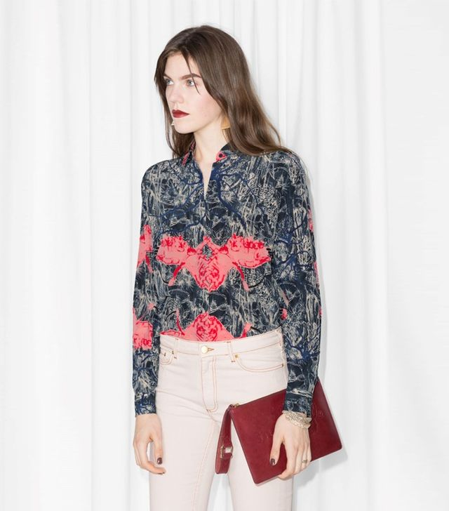 & Other Stories Classic Silk Shirt