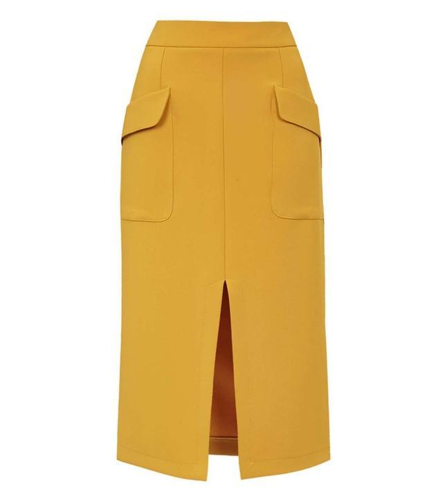 Topshop Split Midi Skirt
