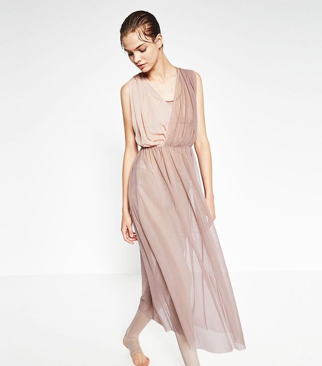 Zara Contrast Tulle Dress