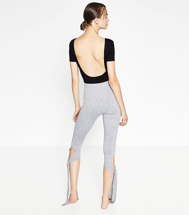 Zara Cropped Bow Trousers