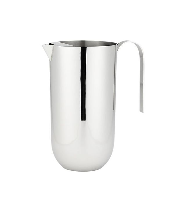 CB2 Stainless Steel Mirror Pitcher