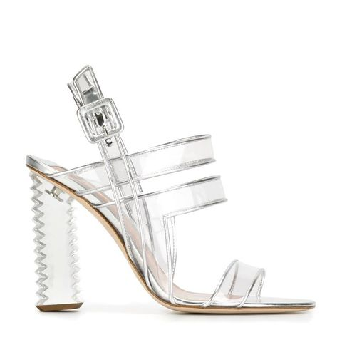 Clear Strappy Sandals