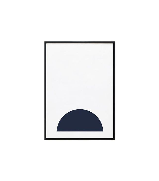 The Artwork Stylist Navy Half Moon Framed Print