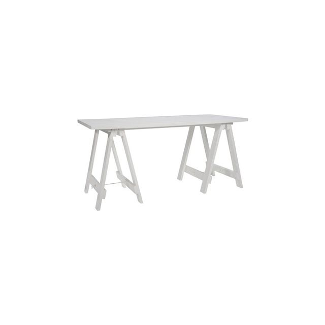 Freedom Stationers Trestle Desk in White