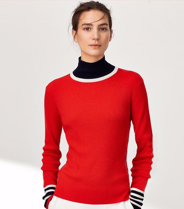Tory Sport Merino Turtleneck Sweater