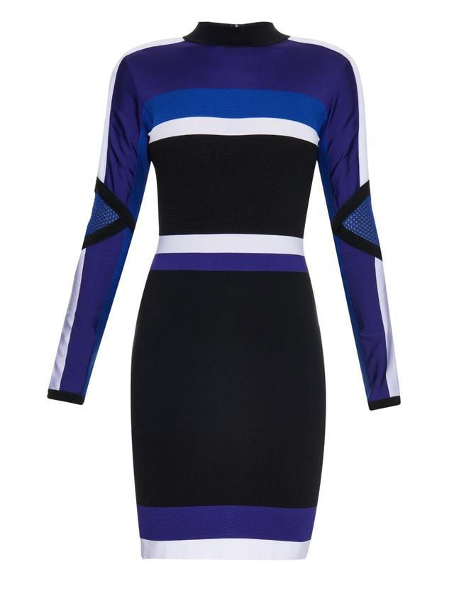 Versace Color-Block Dress