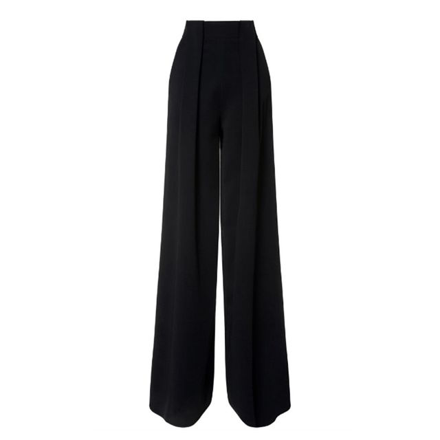 David Koma Fold Detail Wide Trousers