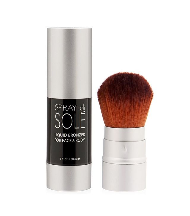 Spray di Solé Liquid Bronzer Kit 30ml With Face Kabuki Brush Starter Kit