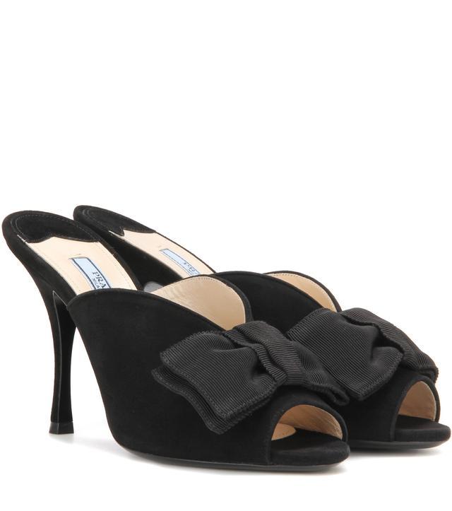 Prada Embellished Suede Sandals