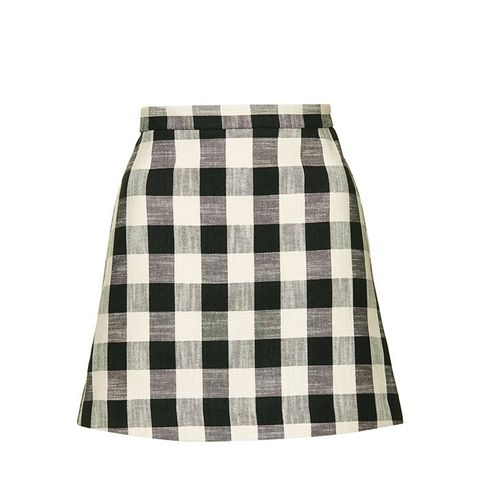 Gingham Bonded Mini Skirt
