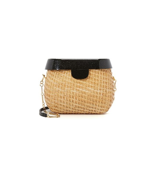 Edie Parker Jane Straw Basket