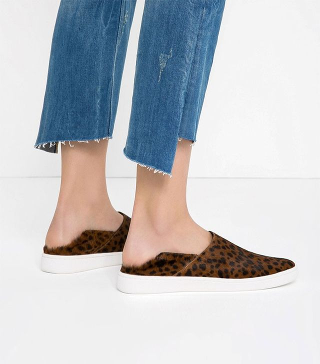 Zara Printed Leather Sneakers