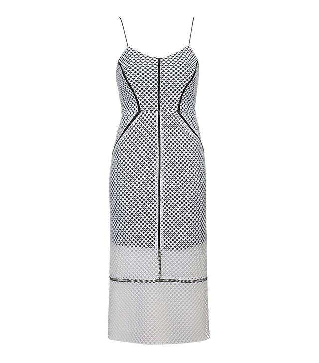 Topshop Airtex Column Midi Dress