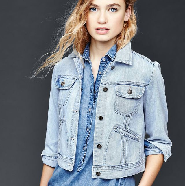 Gap 1969 Pleated Denim Jacket