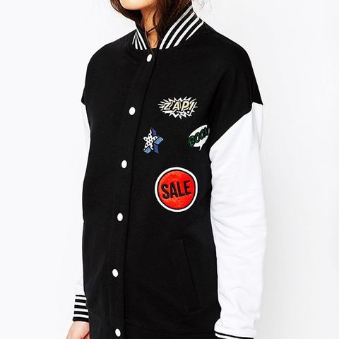Bomber Jacket With Badges