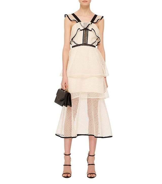 Self-Potrait Sleeveless Midi Dress