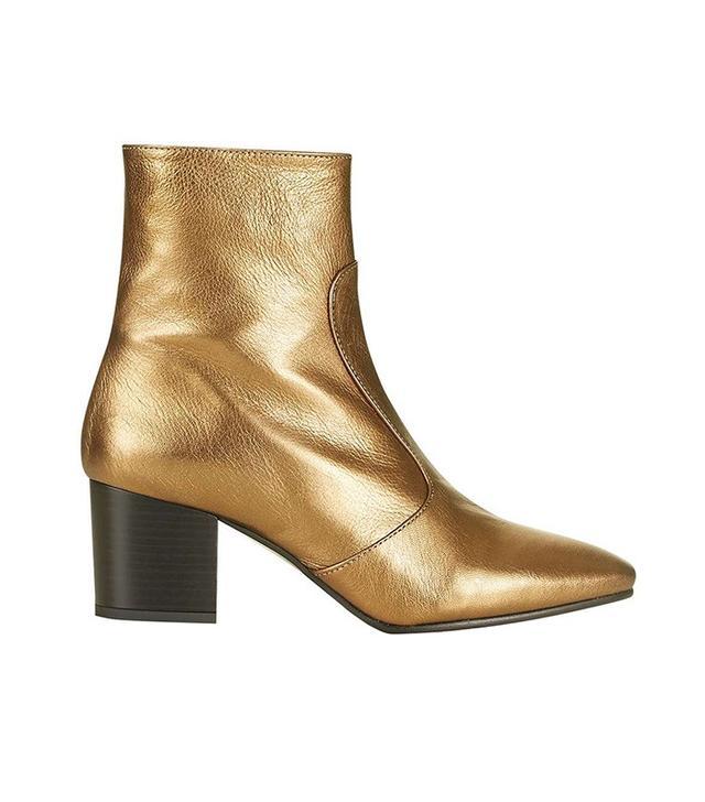 Topshop Mustard Western Boots