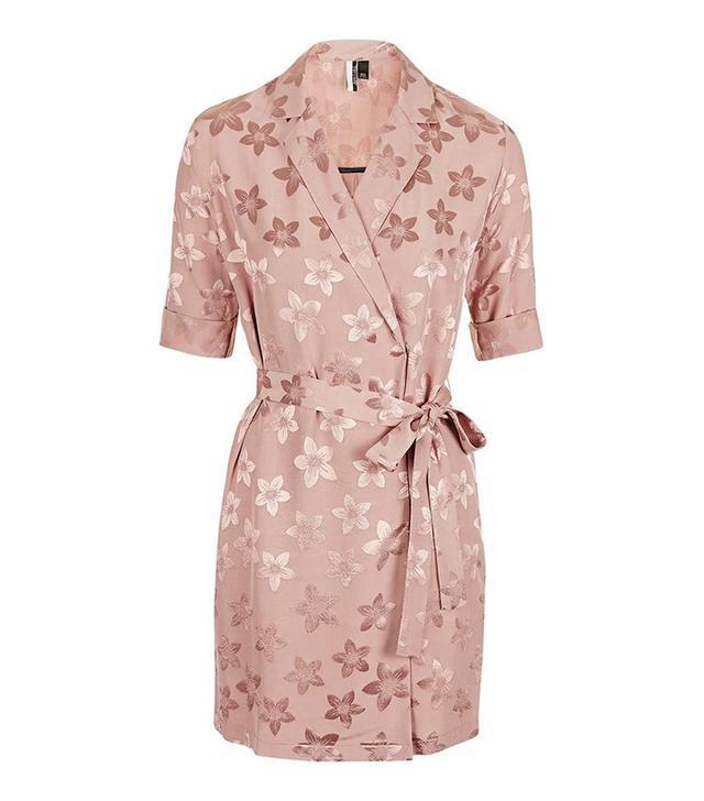 Topshop Jacquard Pyjama Style Wrap Dress