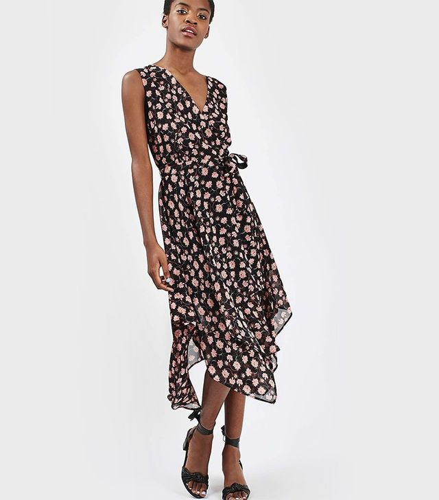 Topshop Romantic Floral Wrap Dress