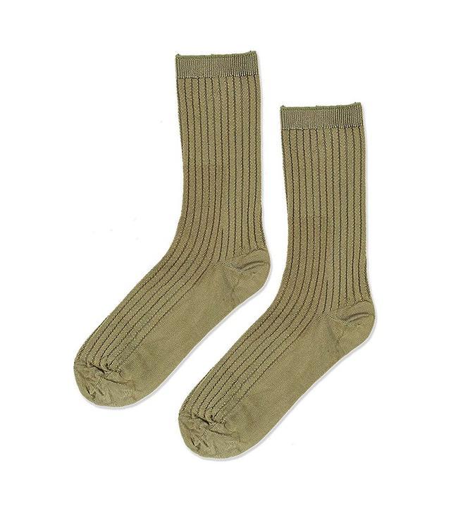 Topshop Slinky Rib Stitch Ankle Socks