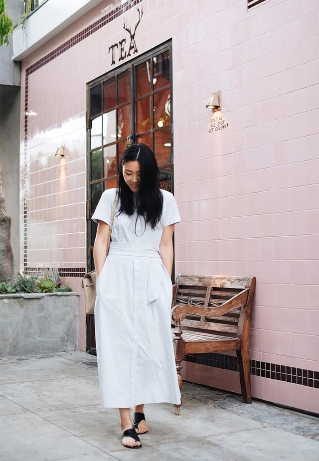Shirtdress + Flats: