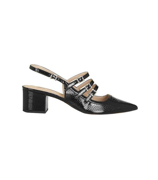 Topshop Java Croc Sling-Back Shoes