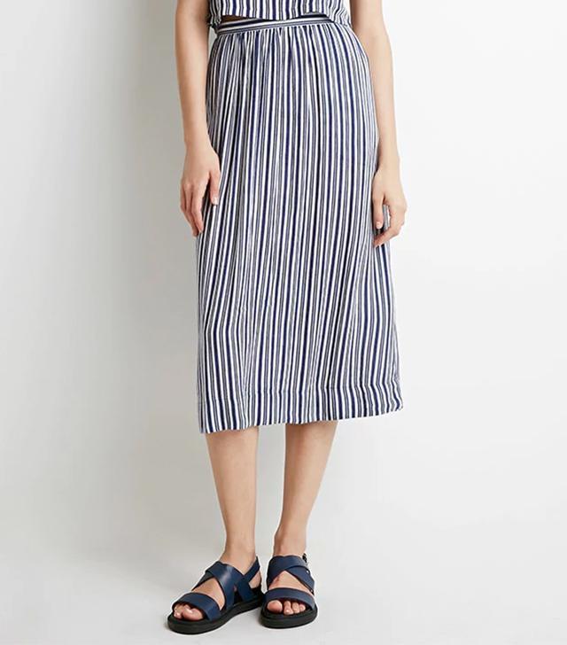 Forever 21 Stripe Midi Skirt