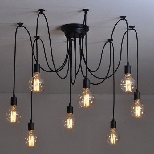 Amonson 14 Heads Thomas Edison Bulb Chandelier Pendant Light Replica