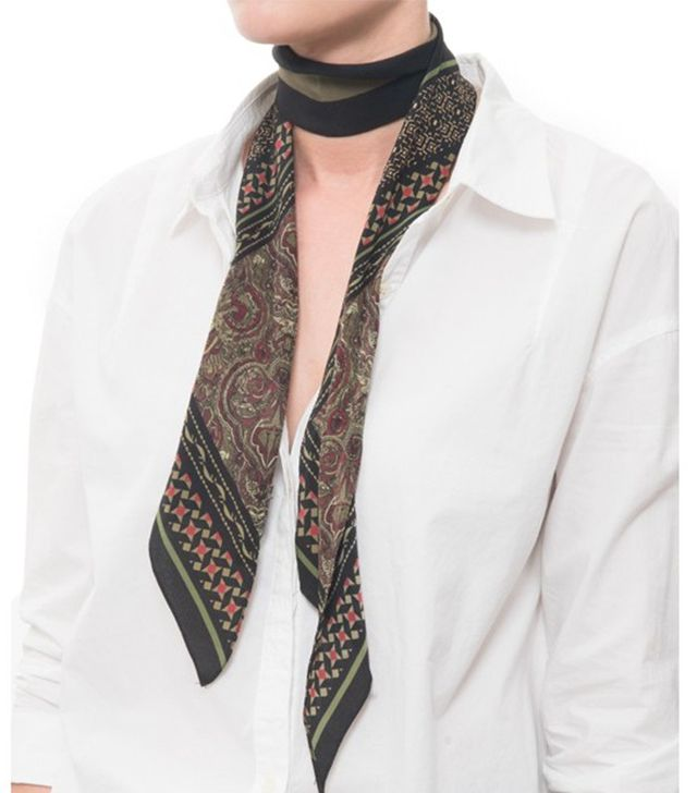 Rockins Tiger Paisley Super Skinny Scarf