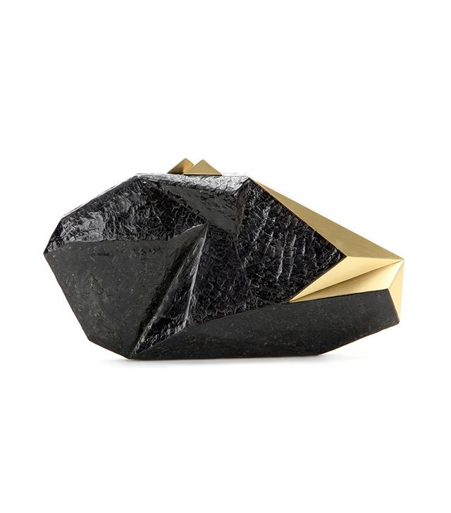 Nathalie Trad Polygonia Shell Box Clutch