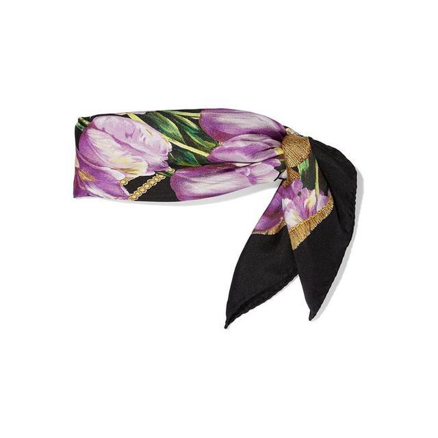 Dolce & Gabbana Tulip Silk Scarf