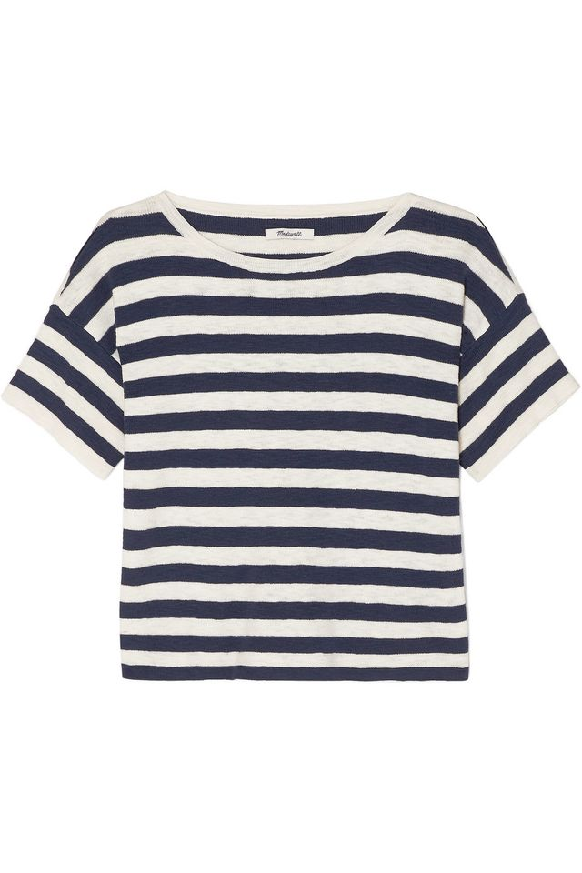 Madewell Striped Cotton Blend T-Shirt