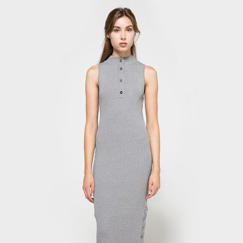 Life Is Real Dress in Grey
