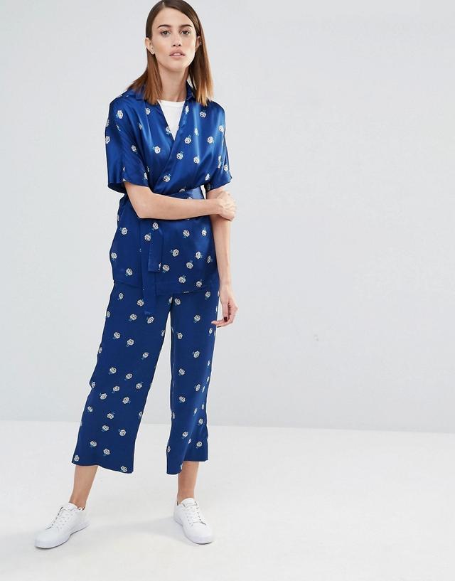 Whistles Edwina Pyjama Wrap Shirt